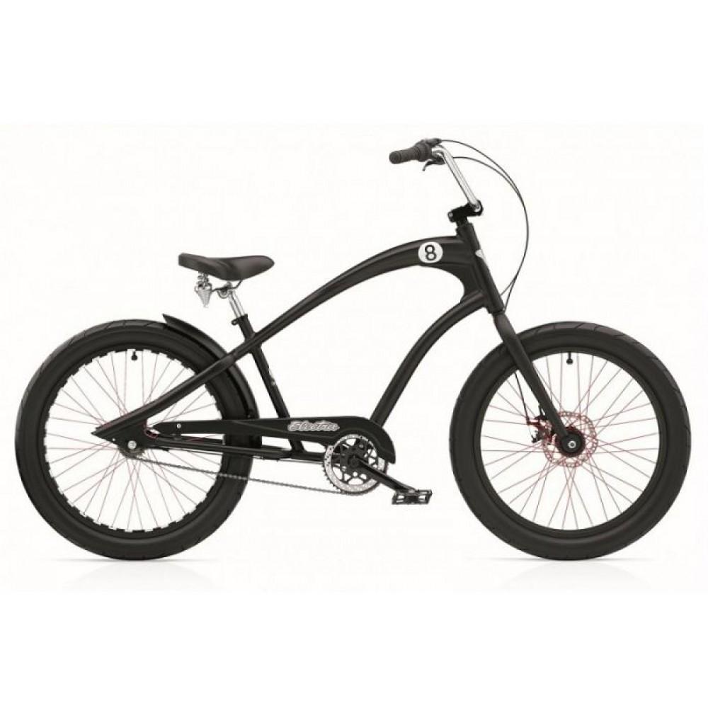Велосипед 24 Electra Straight 8 8i (Alloy) disc satin Black