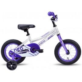 Велосипед 12 Apollo NEO girls фиолетовый/белый