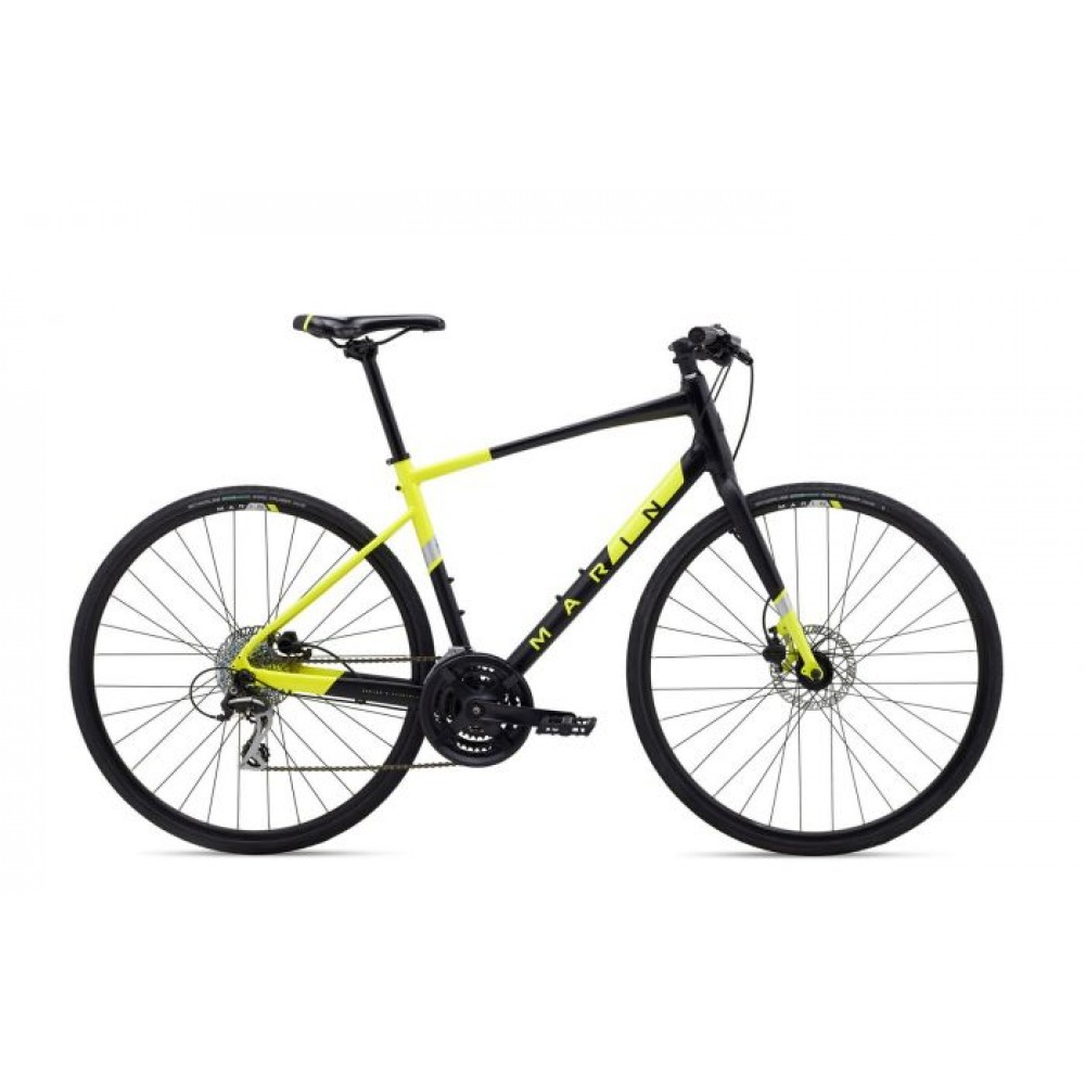 Велосипед 28 Marin FAIRFAX 2 рама - S 2020 Satin Black/Gloss Hi-Vis Yellow/ Silver