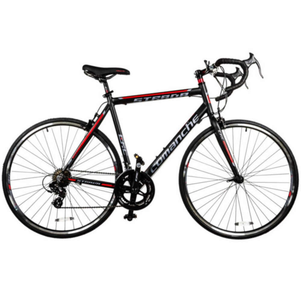 Велосипед Comanche Strada, рама 56CM, черный-красный