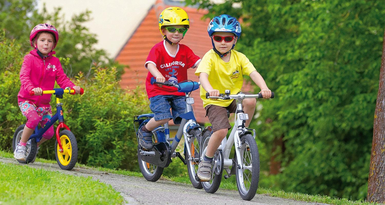 Как обезопасить детей на велосипедах